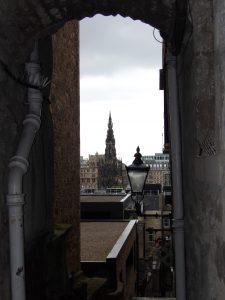 Sir Walter Scott monument in background