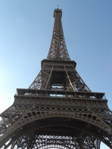 up close at Eiffel Tower