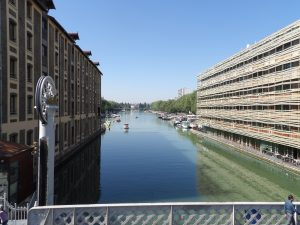 Canal St. Martin in Belleville