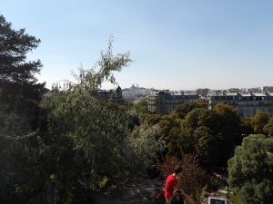 Par de Buttes Chaumont - view towards Sacre Couer