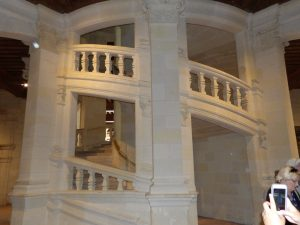 Staircase in Chateau likely design by Da Vinci