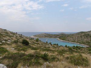 hiking on a remote island