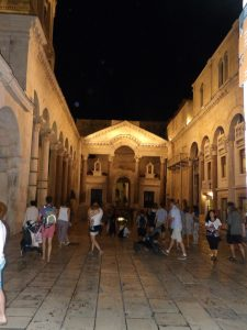 hanging out in Diocletian's palace, which happens to be downtown Split