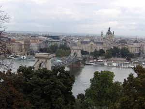 looking down at the Danube from the Castle District