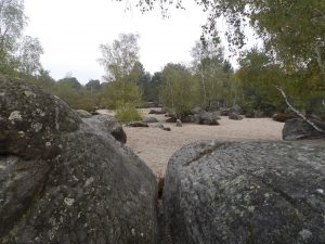 "boulders amidst the ""Sea of Sand"""