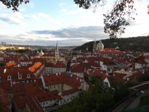 great view from the Prague castle district
