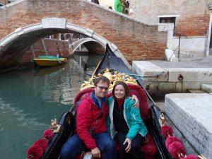 our gondola ride in Venice