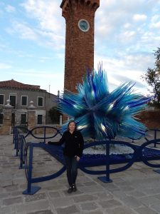 a glass piece of art in Murano
