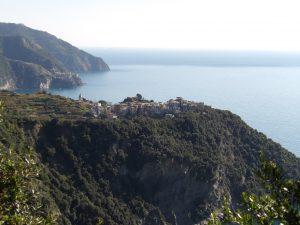the middle town, Corniglia, in the distance