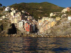the picturesque town of Riomaggiore